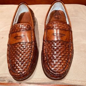 Cole Haan Leather Woven Loafers